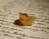 """Nostalgie Ring Gold """"Blätter Rauschen """" Feder"""
