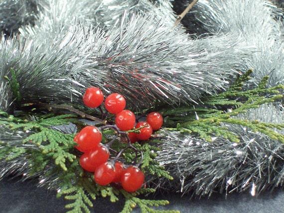 Vintage Silver Christmas Tree Garland