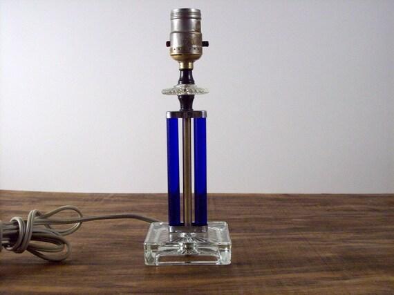 Art Deco Glass Vanity Desk Lamp