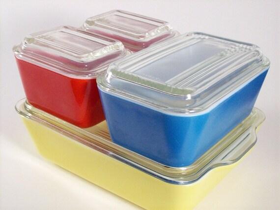 Pyrex Refrigerator Jar Set , Refrigerator Dish Set