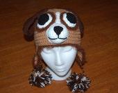 Dog Hat - Crochet Animal Hat - Earflap Hat