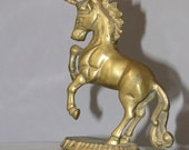 Vintage Brass Unicorn Whimsical Collectible Bookshelf Home Decor Eclectic Design Nursery Child's Room Bookend