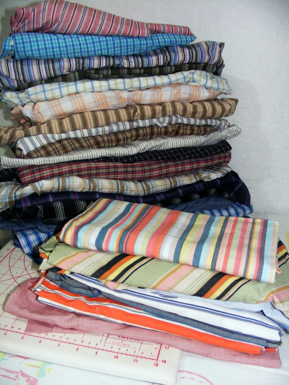 Mens shirt Bundle - BACKS - Recycle Quilting
