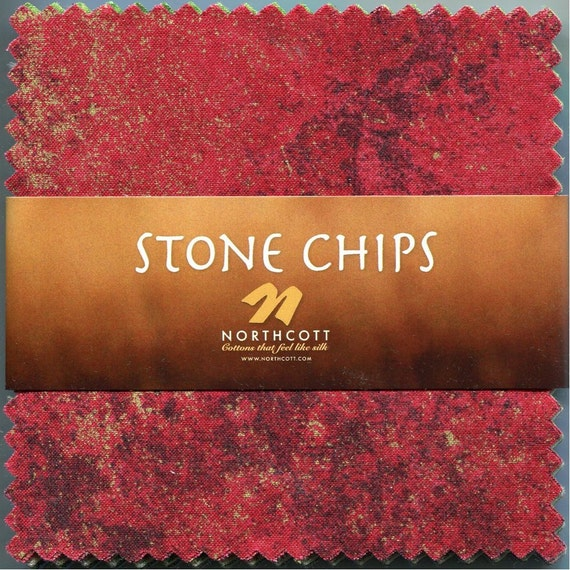 Stone Chips Metallics Charm Pack - Northcott