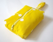Personalized Dog Leash Bag in Yellow and White Spark