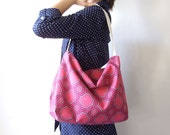 Large Hobo Purse in Magenta