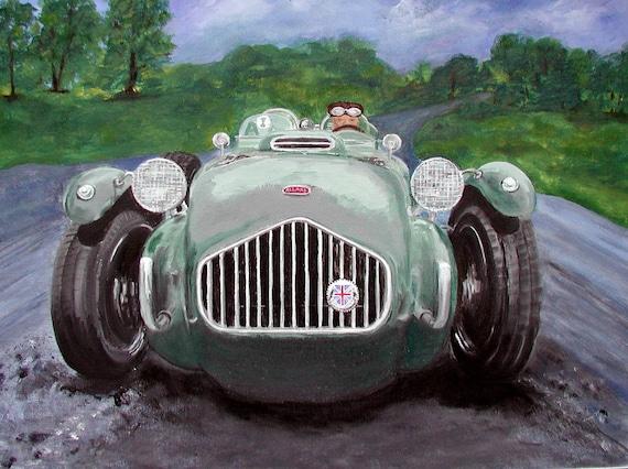 Allard J2x Giclee Print Of A Car Painting Classic Car