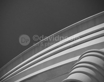 Architectural Cornice Black and White. Photography Print 8x10 Fine Art Architectural feature shadows
