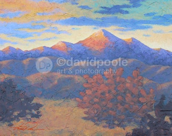 Sunrise in Santa Fe New Mexico. Photography Print of painting 8x10 Fine Art New Mexico Landscape