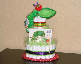 The Very Hungry Caterpillar Diaper Cake