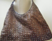 Stunning Moroccan Studded Tan Leather Shoulder Bag