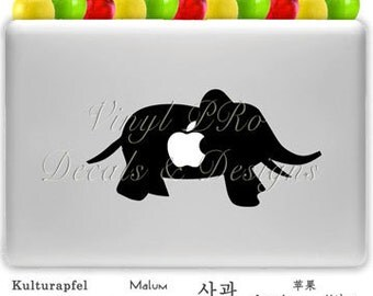 Elephant Zoo Animal Safari Lover Decal for Macbook