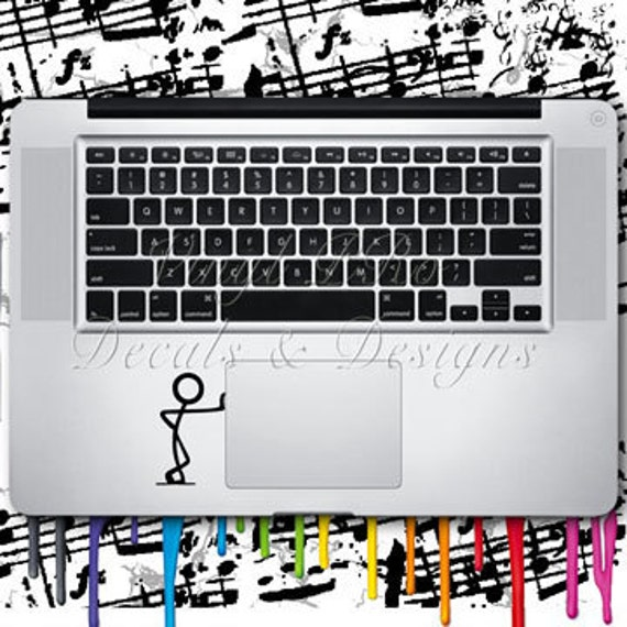 Leaning Man Keypad Style Decal for Macbook