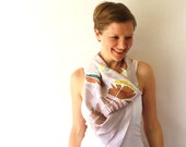 Feathers Silk Scarf - Feathers- Hand Painted Silk Scarf - Spring Fashion - Brown Feathers Scarf