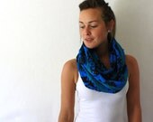 African Circle Scarf - Blue Scarf - African Infinity Scarf - Loop Scarf - Eternity Scarf -Tanzania Fabric