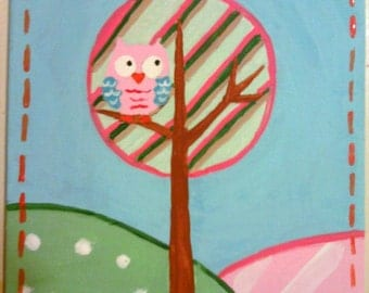 Owls Paintings  (NOT A PRINT)