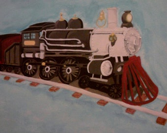 Train Painting  (NOT A PRINT)