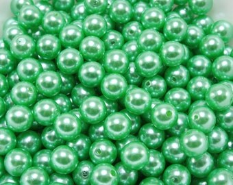 50 pcs Acrylic Pearls - Wintergreen 8mm