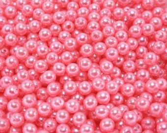 120 pcs Acrylic Pearls - Bubblegum Pink 5mm