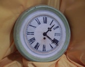 Reserved for blue2sday Vintage Wall Clock with Green Trim