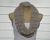 Chunky Beige Sequin Cowl Scarf