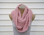 Soft Pink Extra Chunky Cowl Scarf