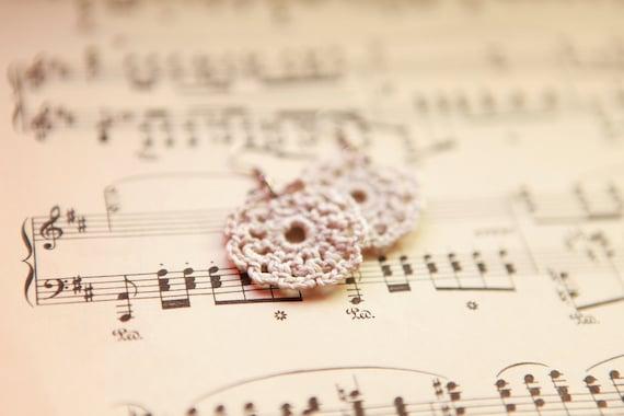 Stillwater Crochet Earrings - Ecru