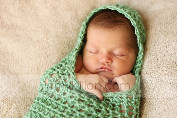 Newborn Hooded Cocoon Photography Prop
