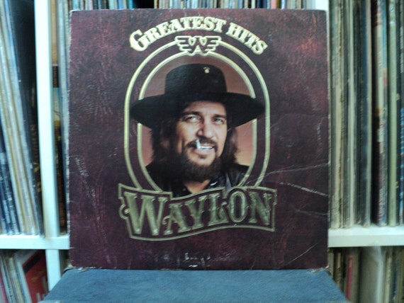 Sale 30% Off - Waylon Jennings - Greatest Hits - Vintage Vinyl Record - LP 1979