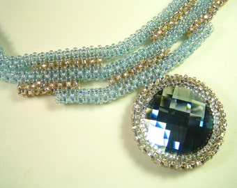 Gorgeous blue Swarovski Necklace