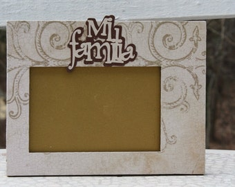 mi familia picture frame
