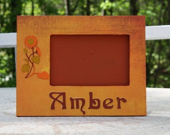 Amber, made to order personalized picture frame