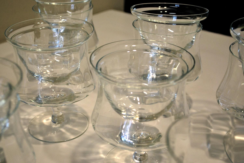 set of 8 crystal shrimp cocktail glasses by emshoppe on etsy. Black Bedroom Furniture Sets. Home Design Ideas