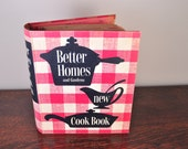 Better Homes and Gardens New Cook Book 1953 Vintage Cookbook 1st Edition with red, white, and blue cover