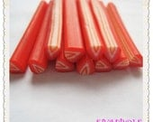 A-12 Cute  Strawberry Polymer Clay Cane Nail Art Decoration 5pcs