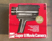 Vintage Super 8 Movie Camera by Gaf XL/128 in Original Box