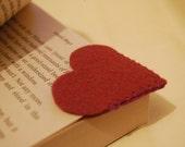 Foxglove Heart Felt Bookmark