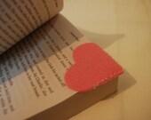 Pink Heart Felt Bookmark