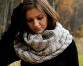 Light and striped kidmohair scarf