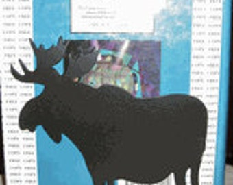Bull moose book ends