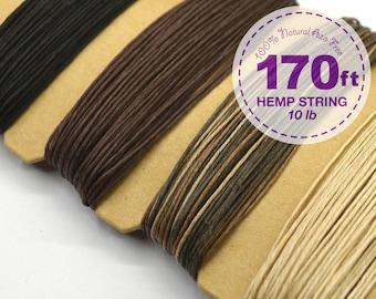 Hemp Cord, Natural, 0.5 mm, 10lb, Bead Cord, Hemp Thread, Colored Hemp Twine