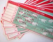 Magic strip horse race game -10 cards