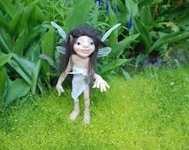 Garden Elf Suelita HANDMADE Sprite Faerie Fairy Doll