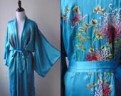Vintage Silk Kimono Robe