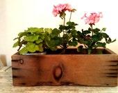 Vintage Wood Box Flower Box