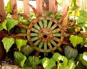 Rusty Metal Garden Art Industrial Decor