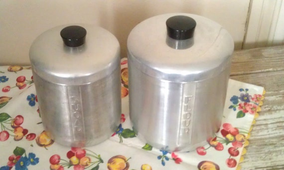 Vintage Canisters Aluminum Canister Set