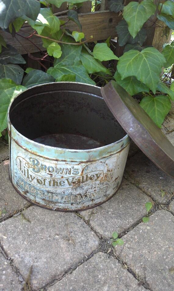 Vintage Tin Marshmallow Tin Advertising