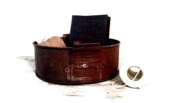 Vintage Baking Tin Industrial Storage