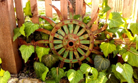 Rusty Metal Garden Art Industrial Decor